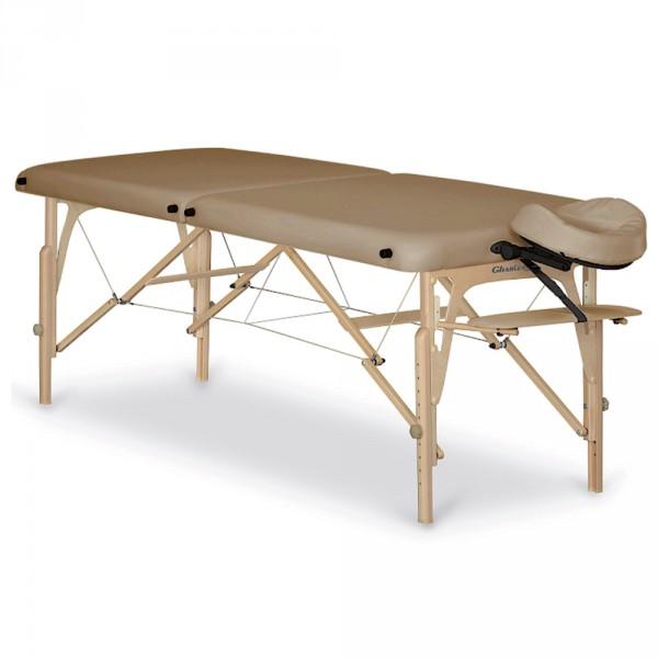 Gharieni PorTable, tragbare Massagebank, Polster Beige, Breite 70cm