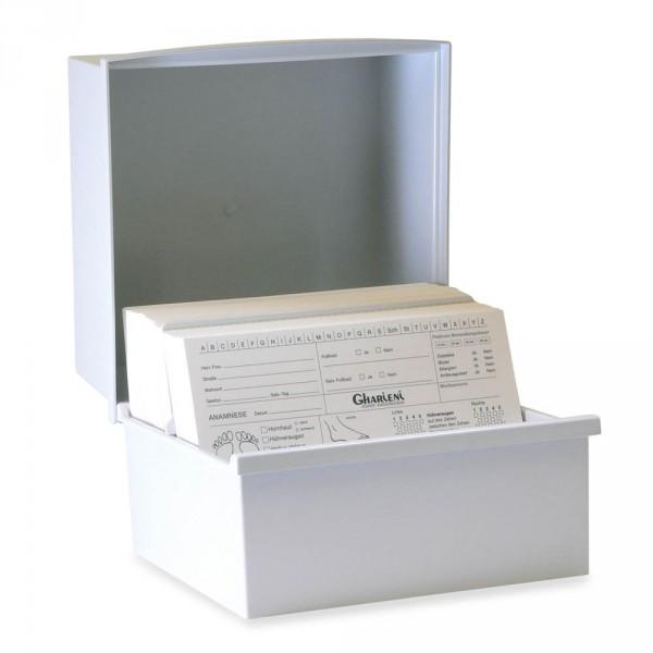 Karteikartenkasten für Kundenkarten
