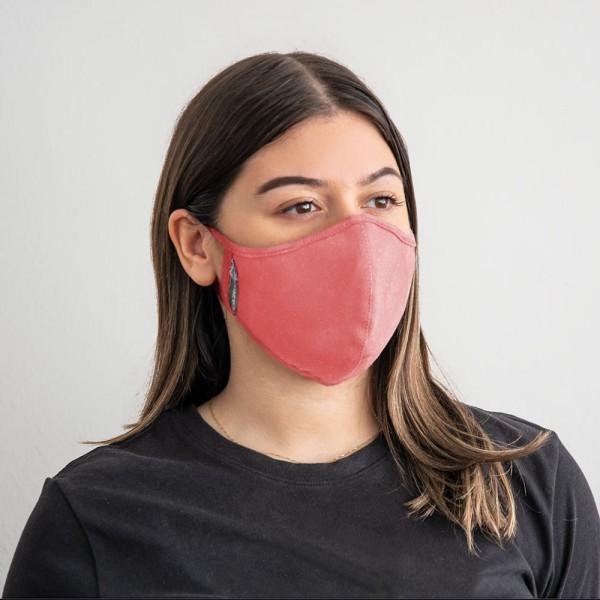 Gesichtsmaske mit austauschbarem Nanofiltereinsatz, Lachs (Frauen)