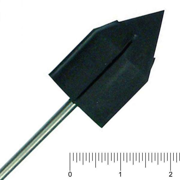 Gummiträger, groß/spitz, Ø 16 mm