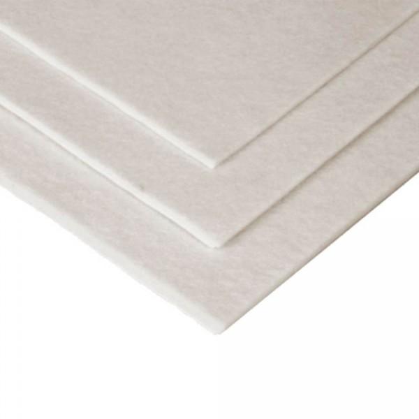 HAPLA Wollfilz Weiß, 2 mm, 22,5 x 45 cm /Platte