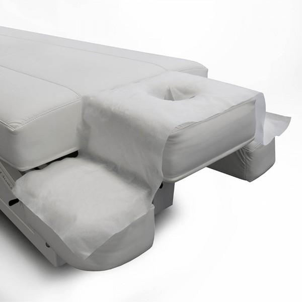Nasenschlitztuch breit für Wellnessliegen, 130 x 35 cm, 50 Stück