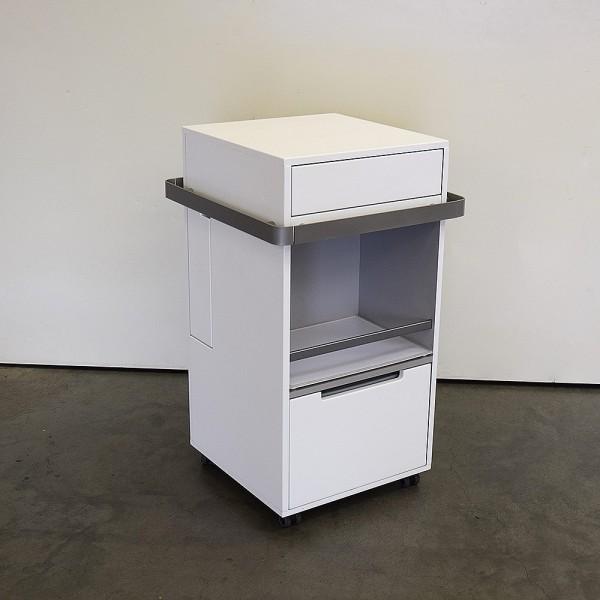 MLX Display Trolley Plus weiß, Reling 9007, Ausstellungsstück DM9
