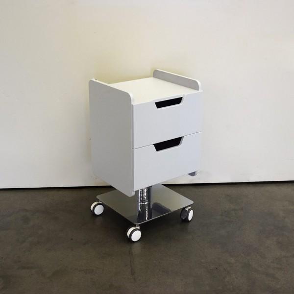 Präparatemöbel Cube weiß mit zwei Schubladen, Ausstellungsstück DM19
