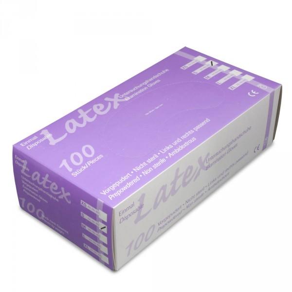 Latex-Handschuhe leicht gepudert XS, 100 Stück