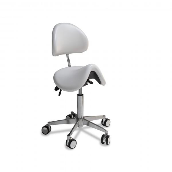 Sattelsitz-Stuhl anatomisch small mit kleiner Chrom-Basis