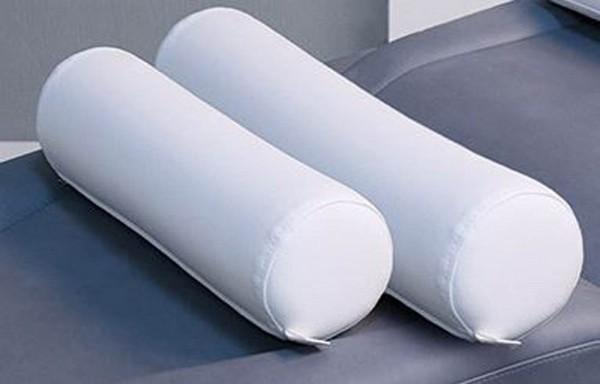 Zylindrische Nackenrolle, 60cm, Weiß