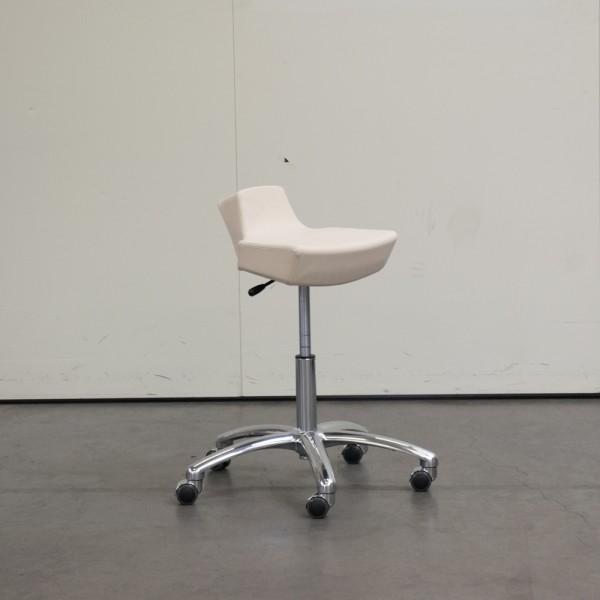 Hocker PU Beige, Ausstellungsstück H4