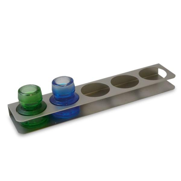Flaschenständer, Edelstahl, 195 mm x 44 mm x 23mm