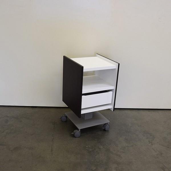 Cube Square Trolley, Wenge, Weiß Titan, Neuware DM2