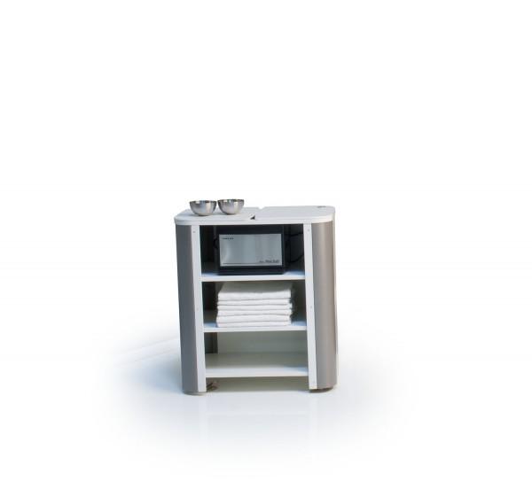 Gerätewagen Vario, weiß, Ecken Titan, Neuware G55
