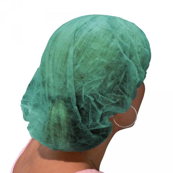 Einweghaarhauben in Barettform, 100Stück, grün
