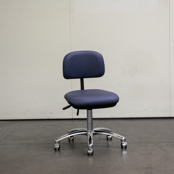 Stuhl Small ohne Armlehne, Anthrazit mit Chromfuß, Neuware H10