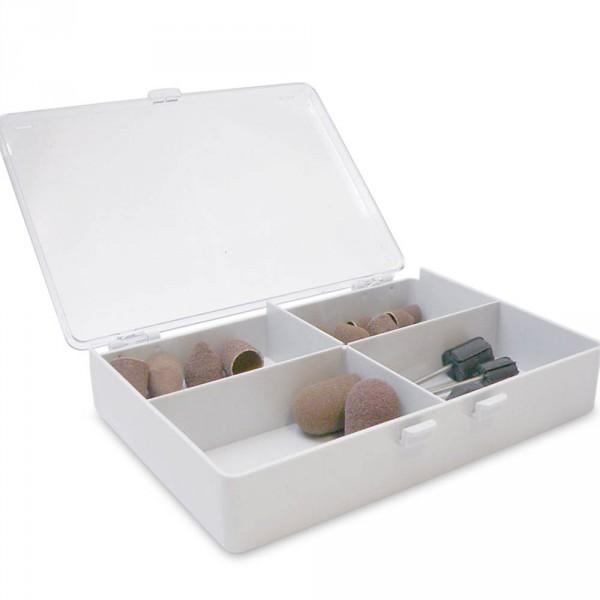 Schleifkappenbox, Plastik, 4-geteilt