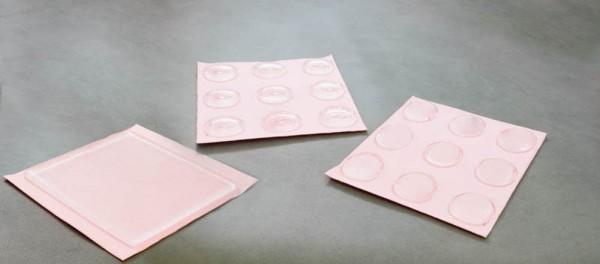 Polymer-Druckschutzkissen rund mit Mulde, 9 Stück