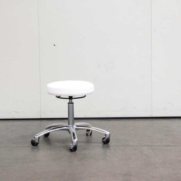 Hocker mit rundem Sitz und Chromfuß, Ausstellungsstück H9