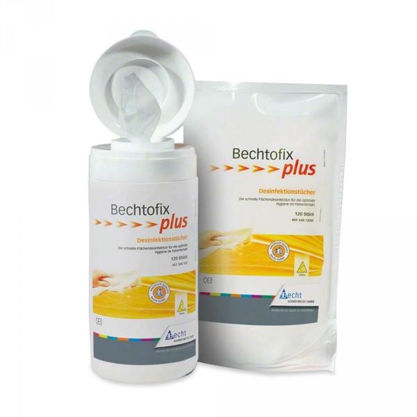 Bechtofix plus, 100 Desinfektionstücher + Dose