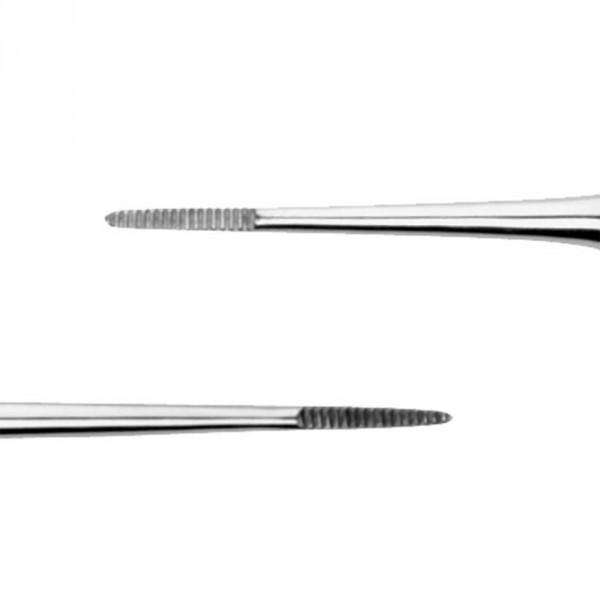 Doppeleckenfeile, aus Edelstahl, 13,2 cm