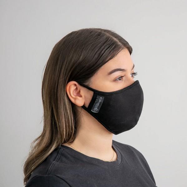 Gesichtsmaske mit austauschbarem Nanofiltereinsatz , schwarz (Frauen)