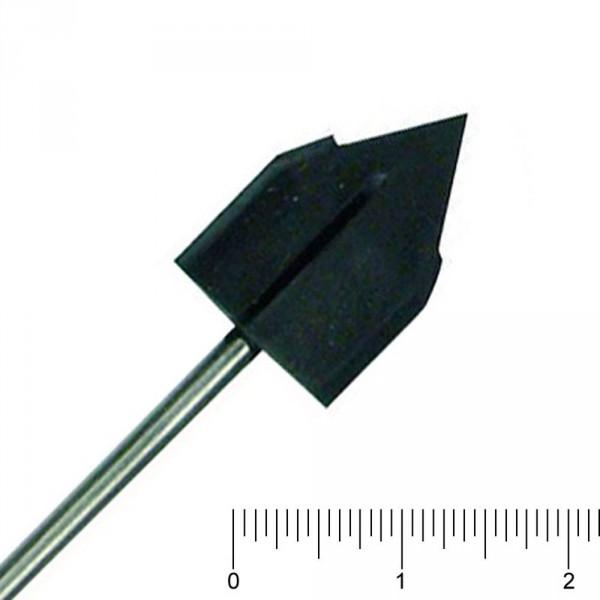 Gummiträger, mittel/spitz, Ø 13 mm