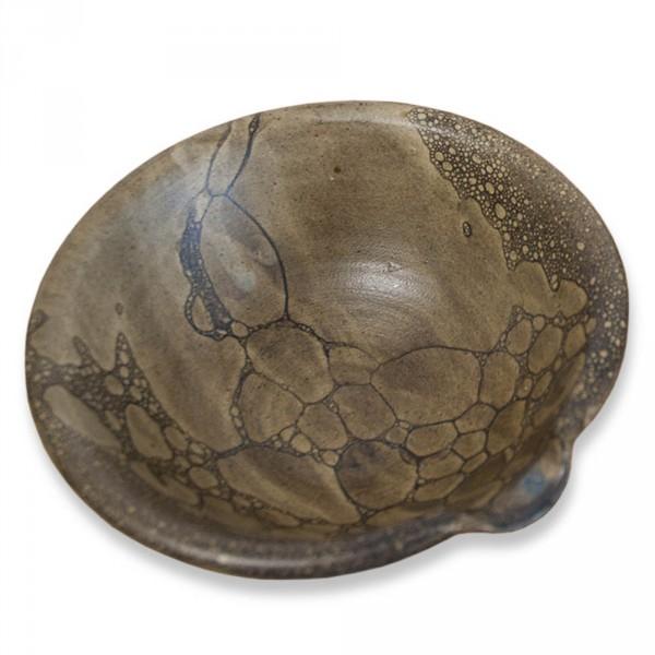 Öl-Schale, Terracotta braun, handgetöpfert