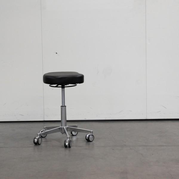 Sattelsitz-Hocker Schwarz, Ausstellungsstück H8