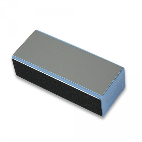 Polierblock, blau, 4-seitig, Eliminator, Schwarz/Schwarz/Weiß/Grau