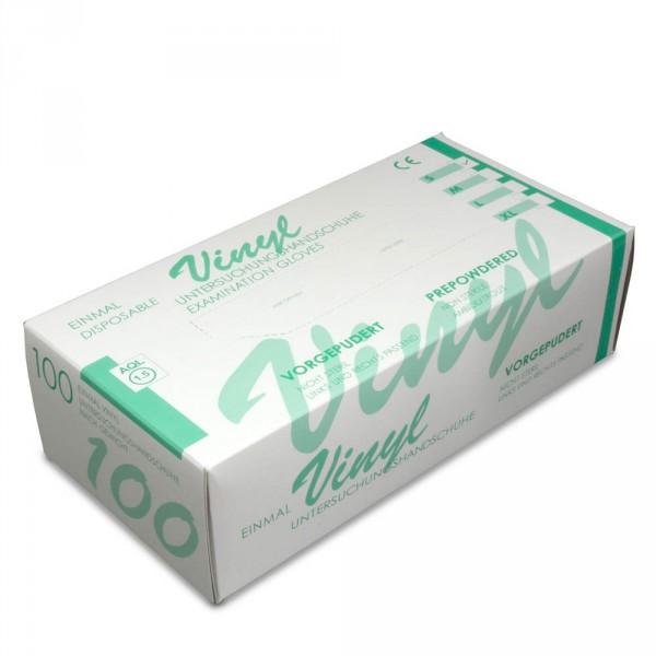 Vinyl-Handschuhe leicht gepudert M, 100 Stück