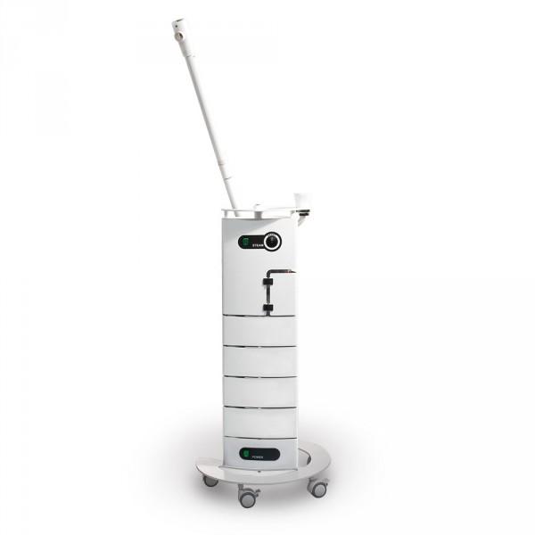 Behandlungsturm Wankelform mit AluVap, komplett in Weiß RAL 9016,
