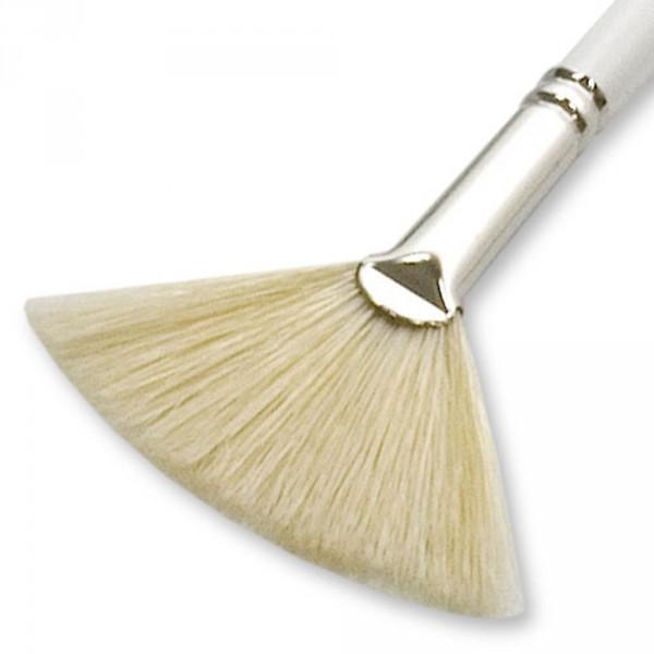 Fächerpinsel, Weiß, Länge ca. 20cm